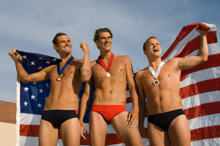 Swimmer : Triumphant swimmers