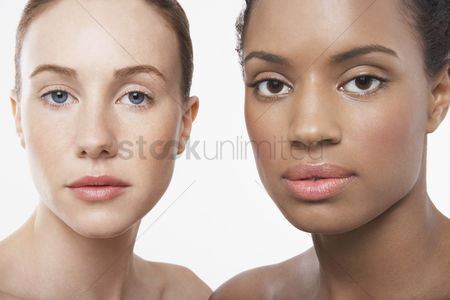 Two people : Two beautiful young women