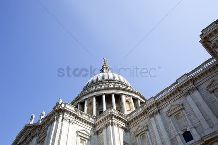 Religion : View from below of st  paul s cathedral london