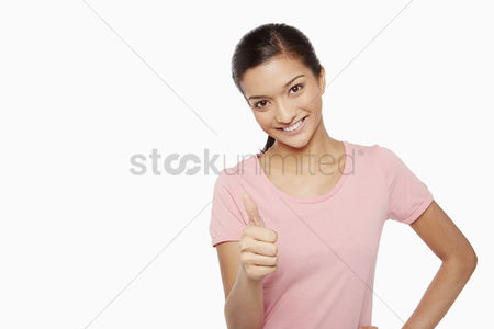 Malaysian indian : Woman giving thumbs up
