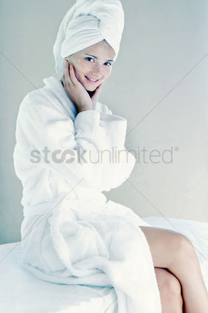 Attraction : Woman in bathrobe with towel wrapped hair