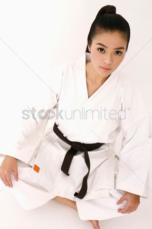 Arts : Woman in karate uniform