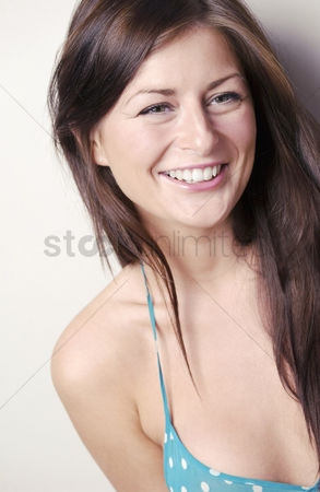 Cheerful : Woman laughing