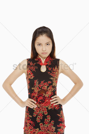 Lunar new year : Woman looking angry