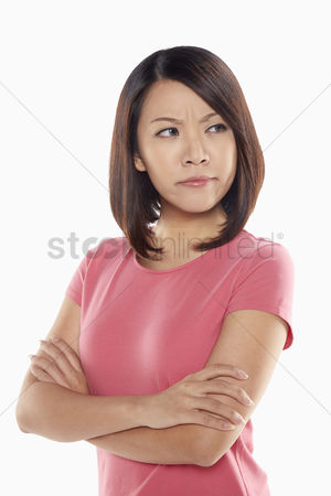 Frowning : Woman looking angry