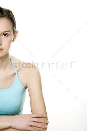Composed : Woman looking at the camera