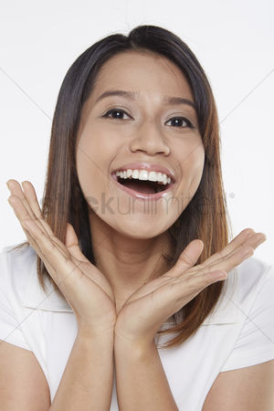 Excited : Woman looking surprised