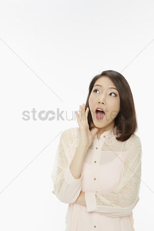 Amazed : Woman with a shocked facial expression