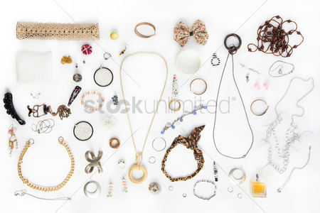 Fashion : Women s accessories on white background