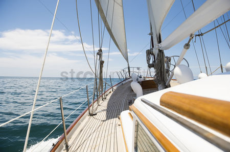 Transportation : Yacht sailing in sea